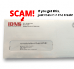 If you get this in the mail about your domain name, toss it in the trash