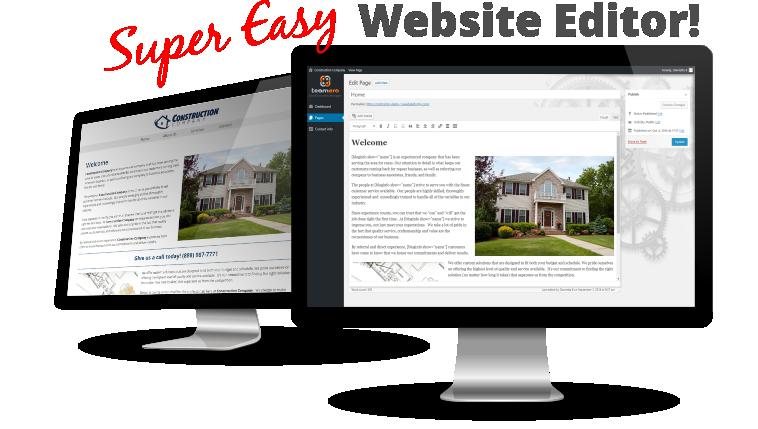 Small Business Website Design Packages - Super Easy Website Editor